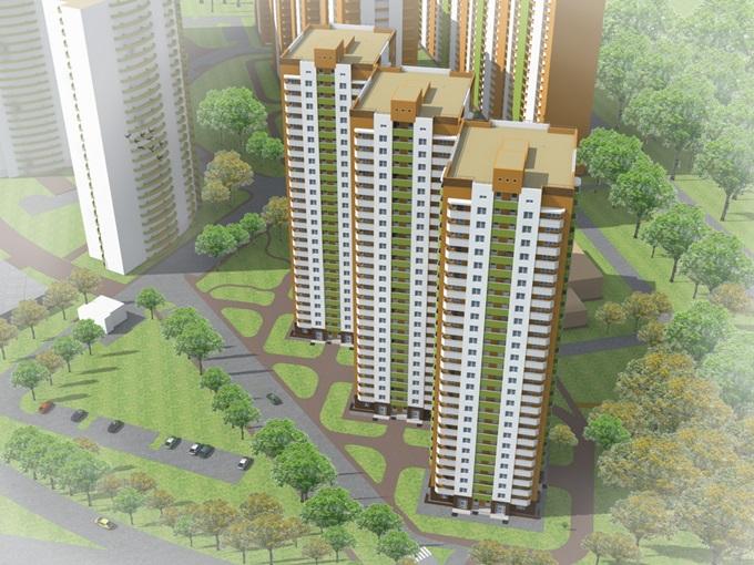 ЖК Orange City от GEOS визуализация первого дома