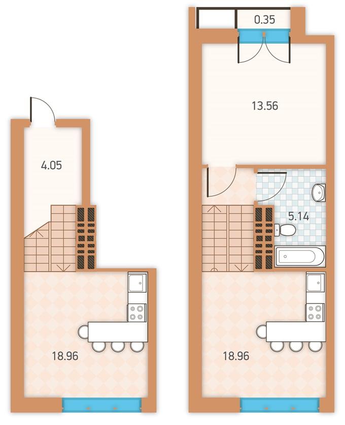 ЖК Twin House от Укрбуд планировки квартир во второй секции