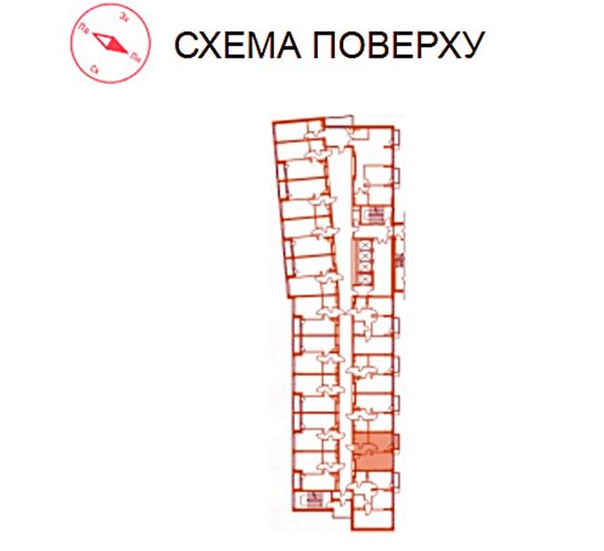 ЖК Twin House от Укрбуд поэтажный план первой секции