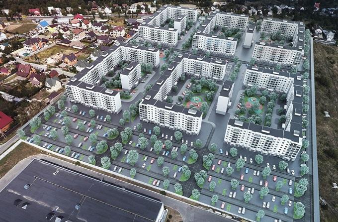 ЖК «Новый Хотов» генеральный план комплекса