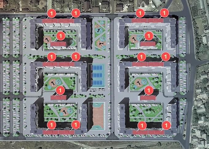 ЖК «Новый Хотов» план секций