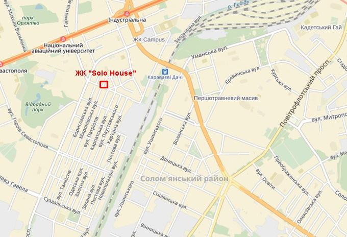 ЖК Solo House карта