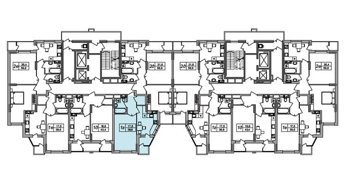 ЖК West House на Кустанайской поэтажный план второго дома