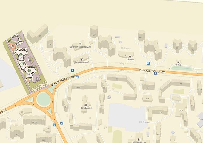 ЖК на Милославской, 18 от Житлоинвестбуда на карте