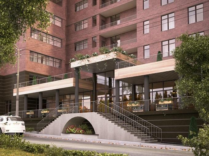 ЖК Henesi House на Татарке дизайн входа