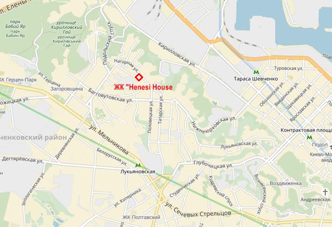 ЖК Henesi House на Татарке месторасположение на карте
