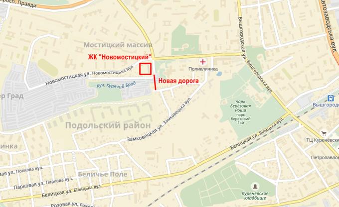 ЖК Новомостицкий от Укрбуд выезд на Жашковскую