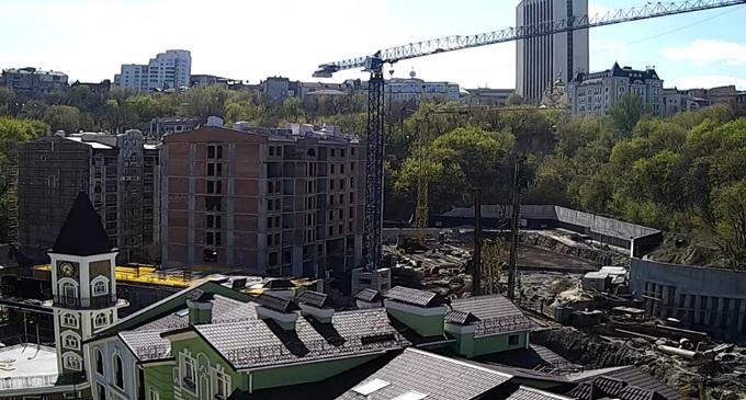 ЖК Подол Град ход строительства домов 13-21