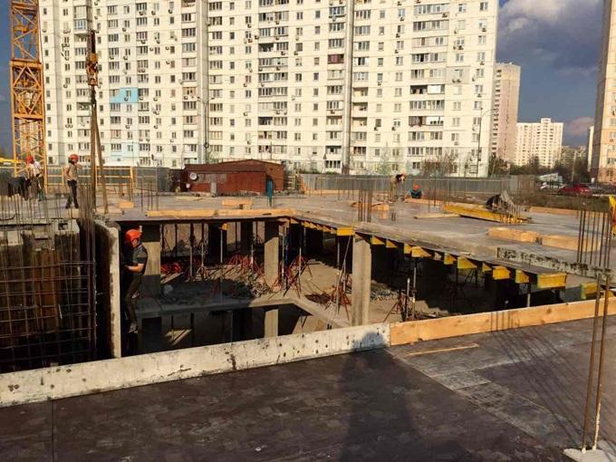 ЖК Прага на Троещине ход строительства атриум