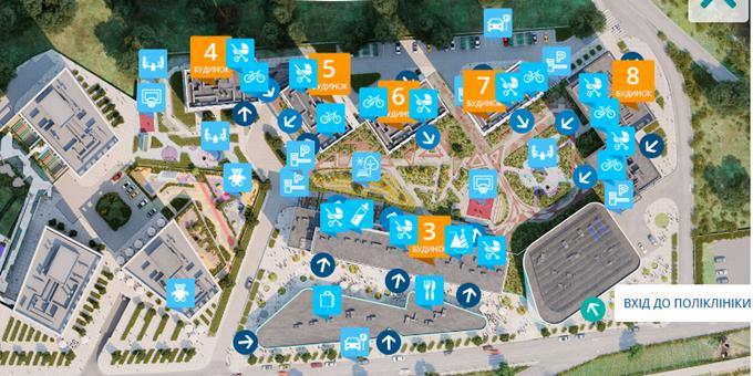 ЖК Славутич 2.0 от bUd development генеральный план