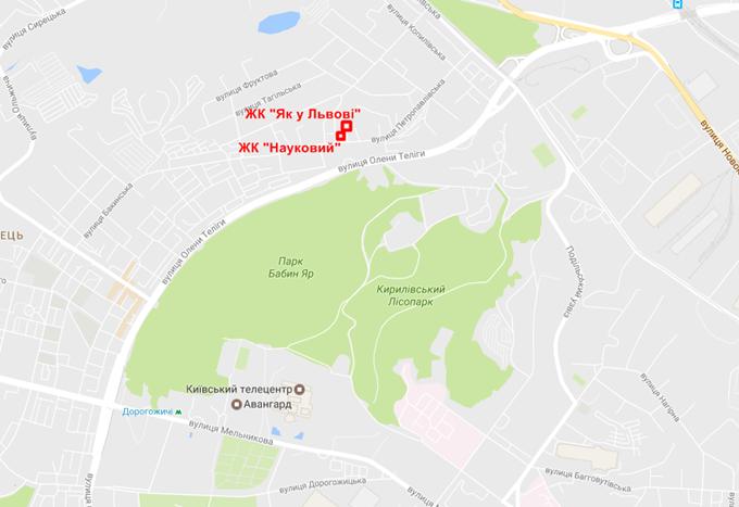 ЖК «Как во Львове» на карте