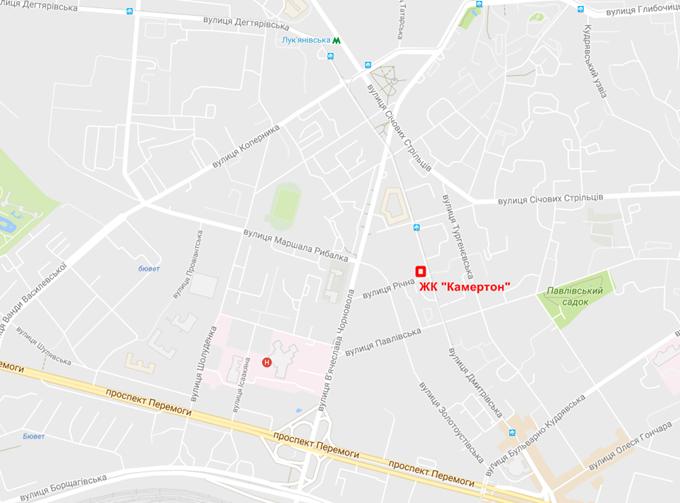 ЖК Каметрон на карте