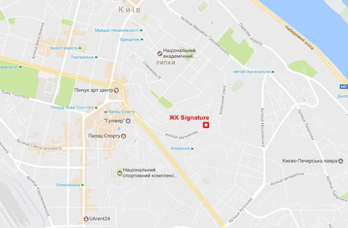 ЖК Signature на карте