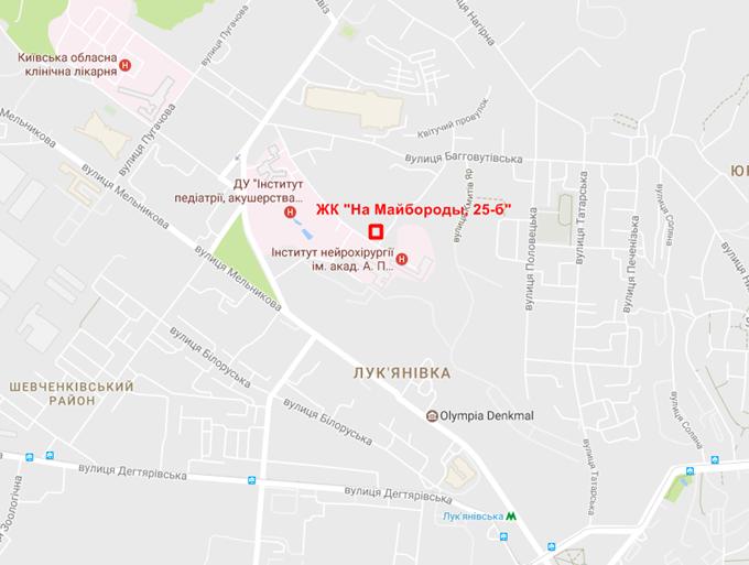 ЖК на Майбороды 25б на карте