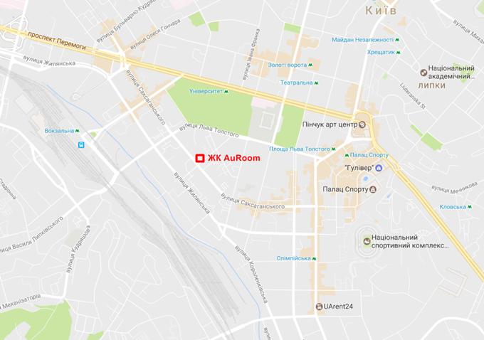 ЖК AuRoom от GEOS на карте