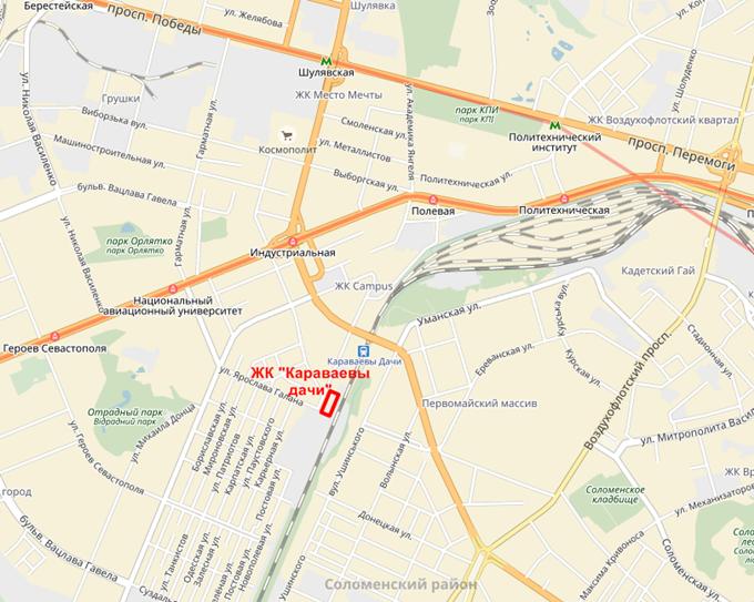 ЖК Караваевы дачи на карте