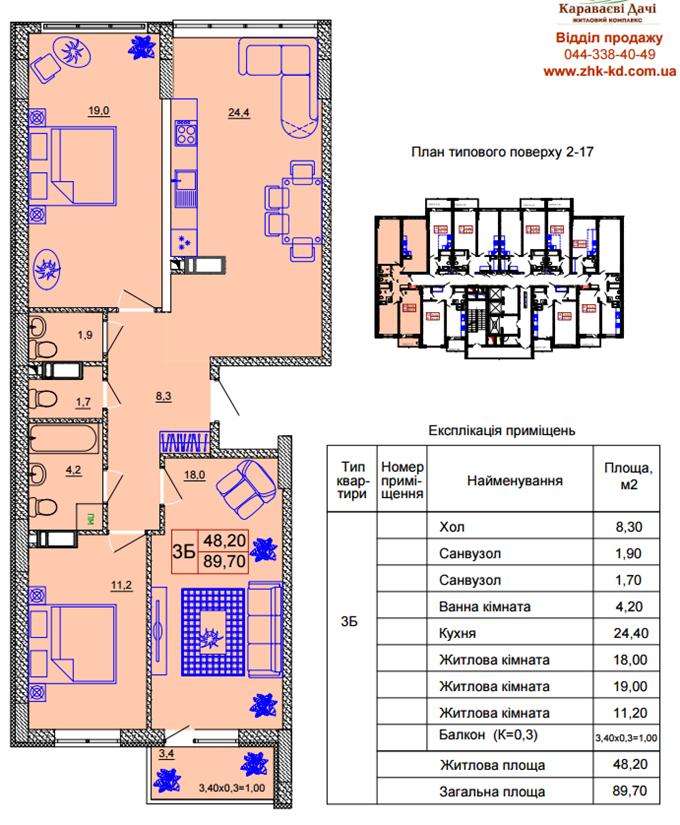 ЖК Караваевы дачи вариант планировки трехкомнатной квартиры