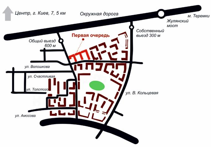 ЖК Sofia Residence генеральный план