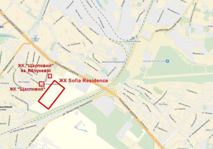 ЖК Sofia Residence месторасположение