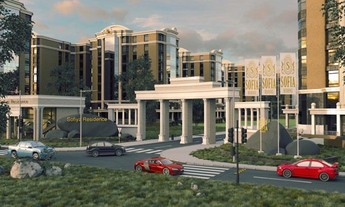 ЖК Sofia Residence вьезд