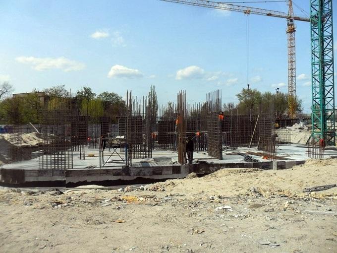 Жилмассив на Каховской 60 ход строительства пятого дома
