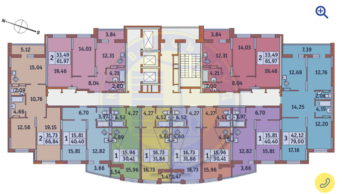 Жилмассив на Каховской 60 типовый этаж пятого дома
