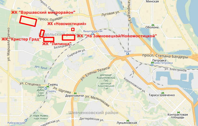 ЖК Липинка на карте