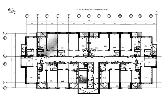 ЖК Silver House Поэтажный план дома