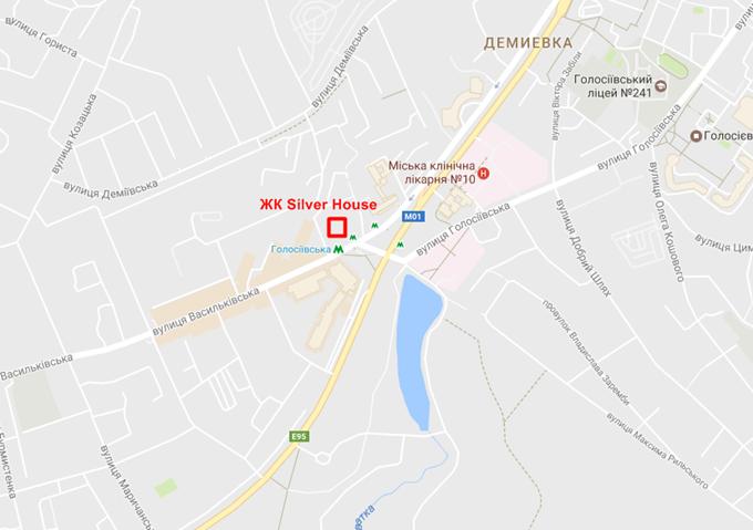 ЖК Silver House на карте