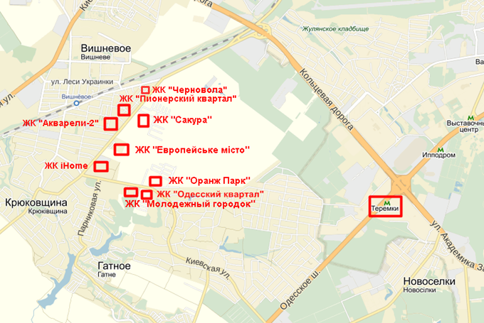 ЖК Черновола на карте