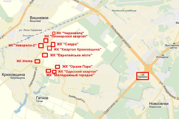 ЖК Квартал Крюковщина на карте