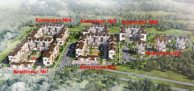 ЖК «Оранж Парк» генеральный план