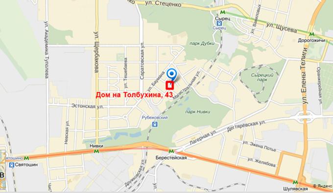 ЖК Толбухина от СГ Фундамент на карте