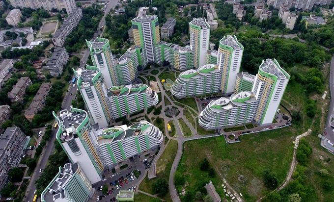 ЖК с интересным фасадом Парковый город