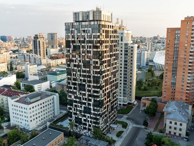 ЖК с интересным фасадом Тетрис Холл