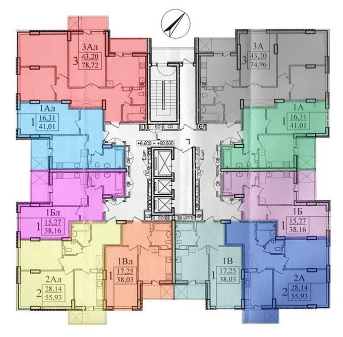 Дом по Платоновскому переулку 6 поэтажный план дома
