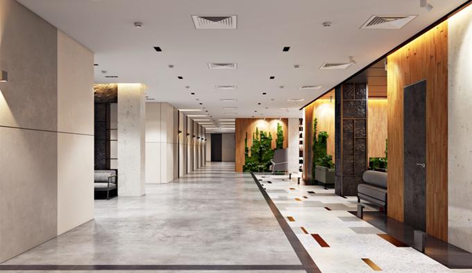 Жильцов и гостей будет встречать огромный холл ЖК Эдельвейс Хаус