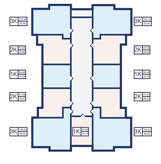 Поэтажный план домов ЖК Эдельвейс Хаус