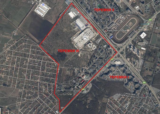 Три микрорайона Теремков в Киеве