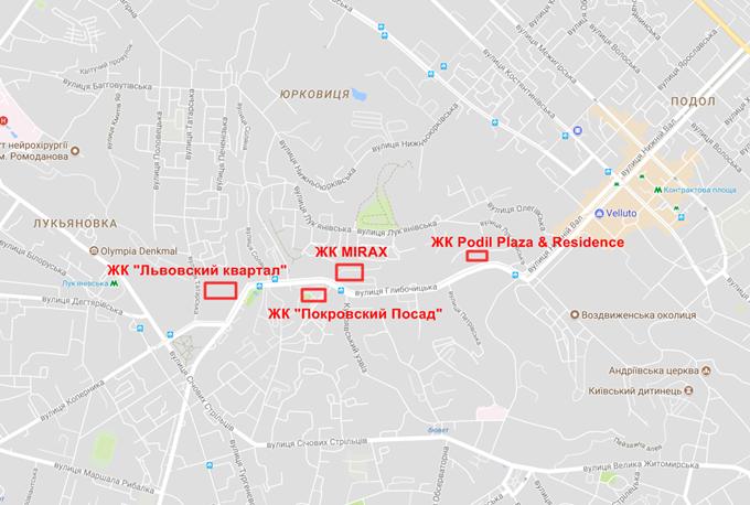 ЖК Миракс на карте