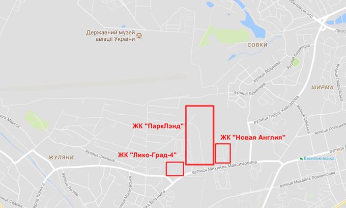 ЖК ParkLand на карте