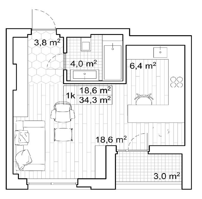 ЖК Сан Франциско Креатив Хаус планировка квартиры студио