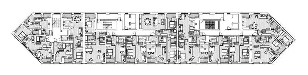 ЖК Сан Франциско Креатив Хаус поэтажный план дома № 1
