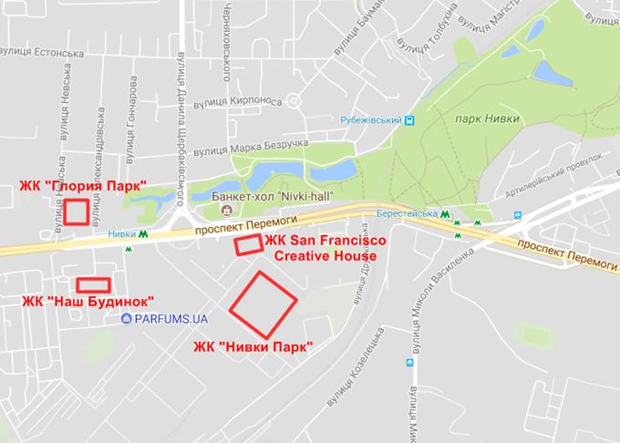 ЖК Сан Франциско Креатив Хаус на карте