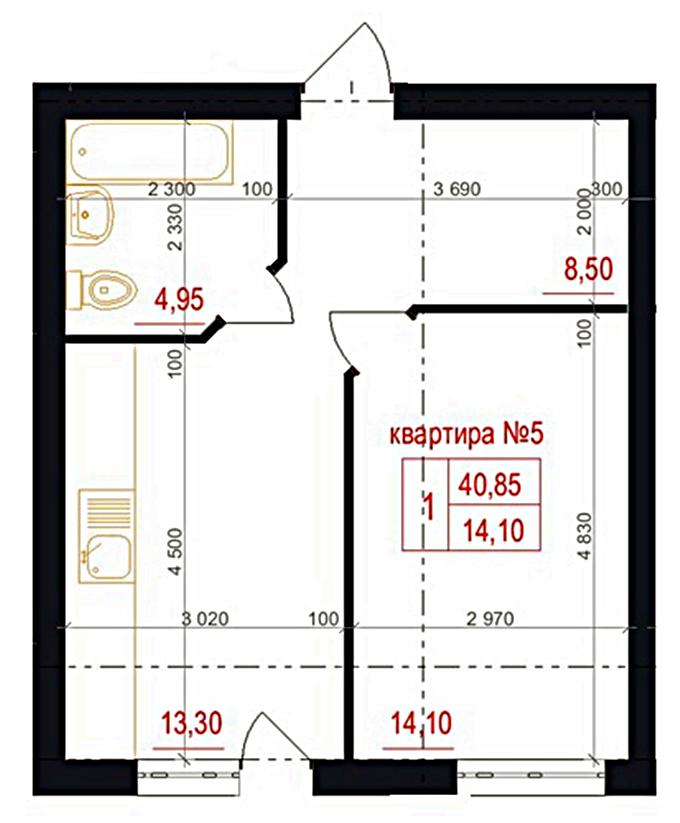 Квартиры в ЖК Фэмили на первом этаже имеет запасной выход