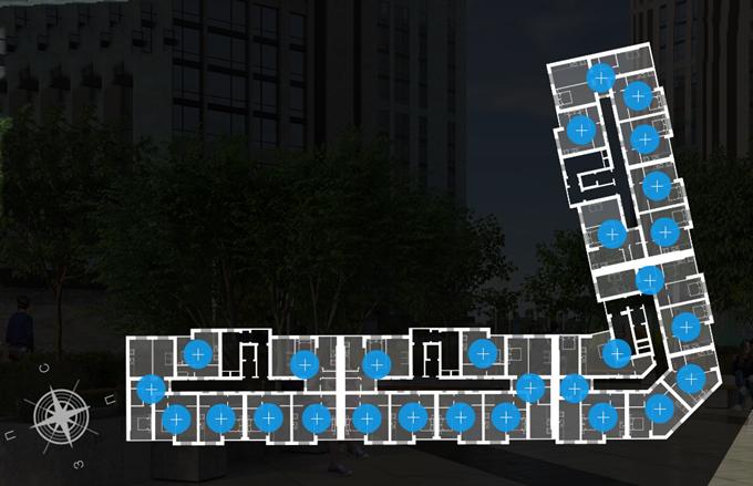 ЖК Атмосфера Вишневое поэтажный план первого дома