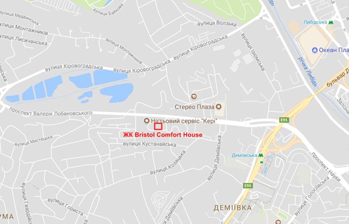 ЖК Bristol Comfort House на карте