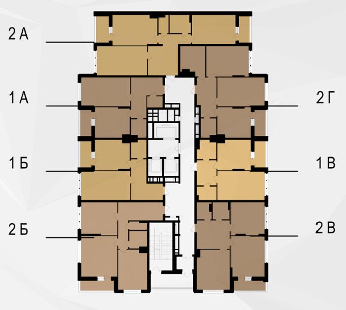 ЖК Bristol Comfort House поэтажный план
