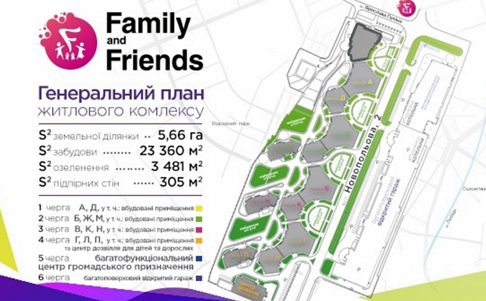 ЖК Family & Friends генплан