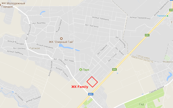 Месторасположение ЖК Family на карте